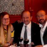 A neves zeneszerzővel, Kaszás Péterrel és nejével